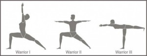 Warrior yoga poses